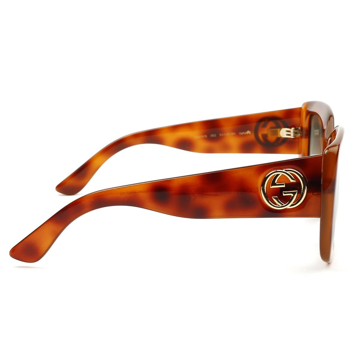 Gucci® Square Sunglasses: GG0141S color Havana 002 - 4/4.