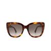 Gucci® Cat-eye Sunglasses: GG0163S color Havana 002 - product thumbnail 1/3.