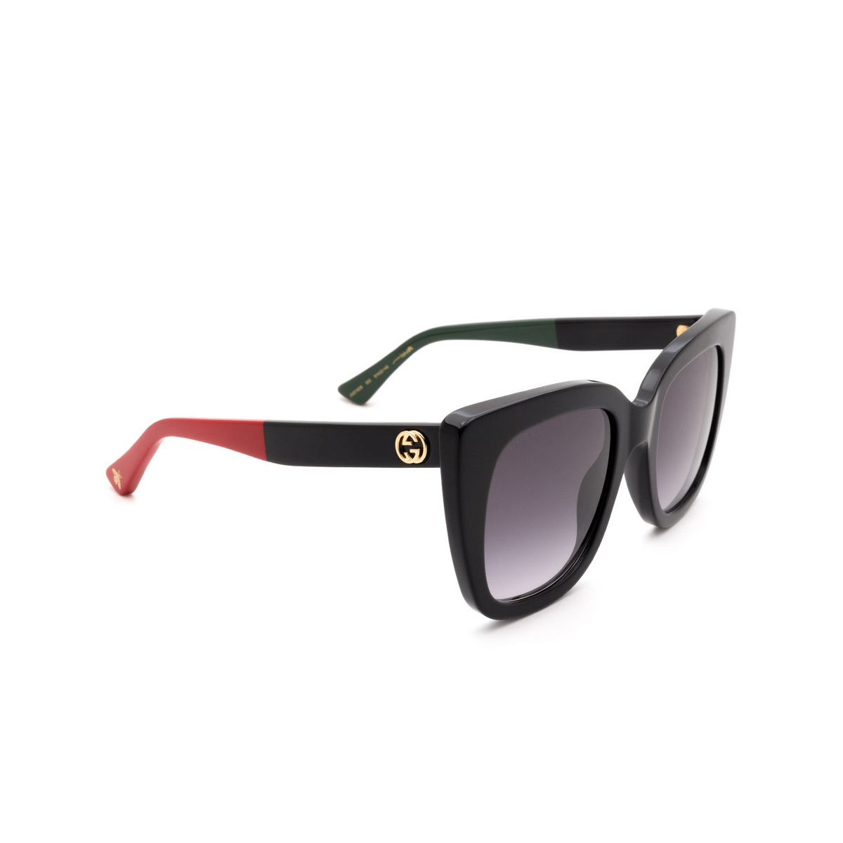 Gucci® Cat-eye Sunglasses: GG0163S color Black 003.
