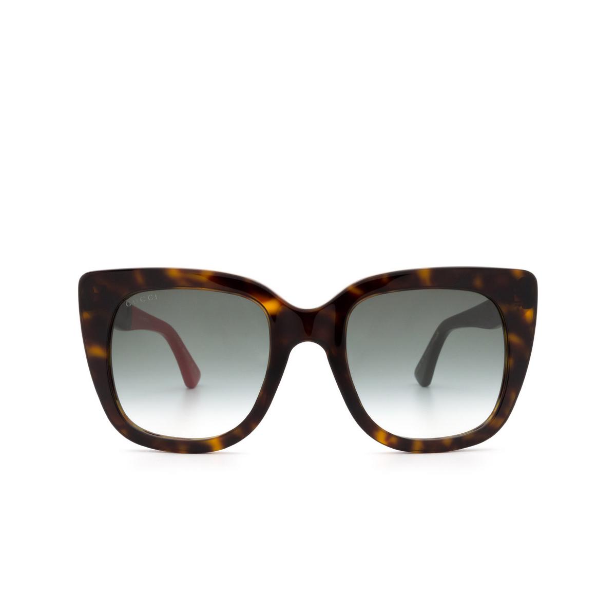 Gucci® Square Sunglasses: GG0163S color Havana 004.
