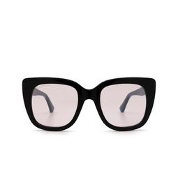 Gucci® Cat-eye Sunglasses: GG0163S color Black 009.