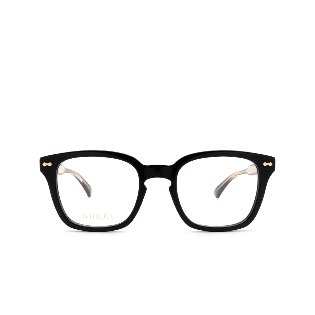 Gucci® Square Eyeglasses: GG0184O color Black 001.
