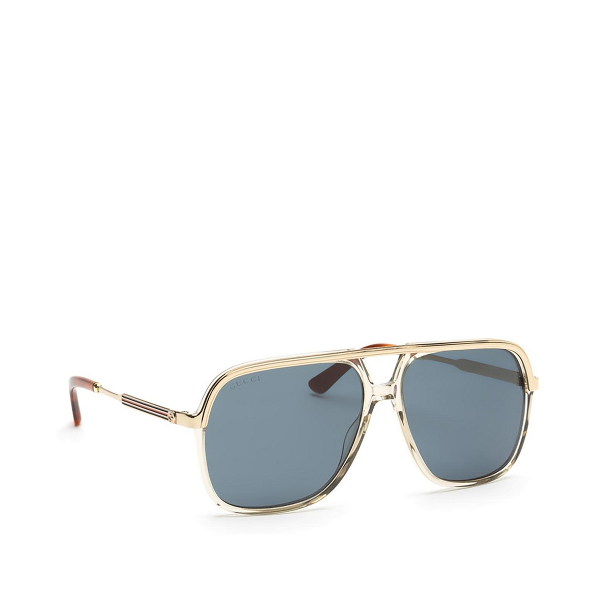 Gucci® Aviator Sunglasses: GG0200S color Transparent Brown 004 - 2/3.