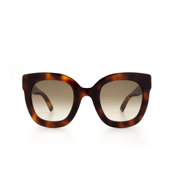 Gucci® Sunglasses: GG0208S color Havana 003.