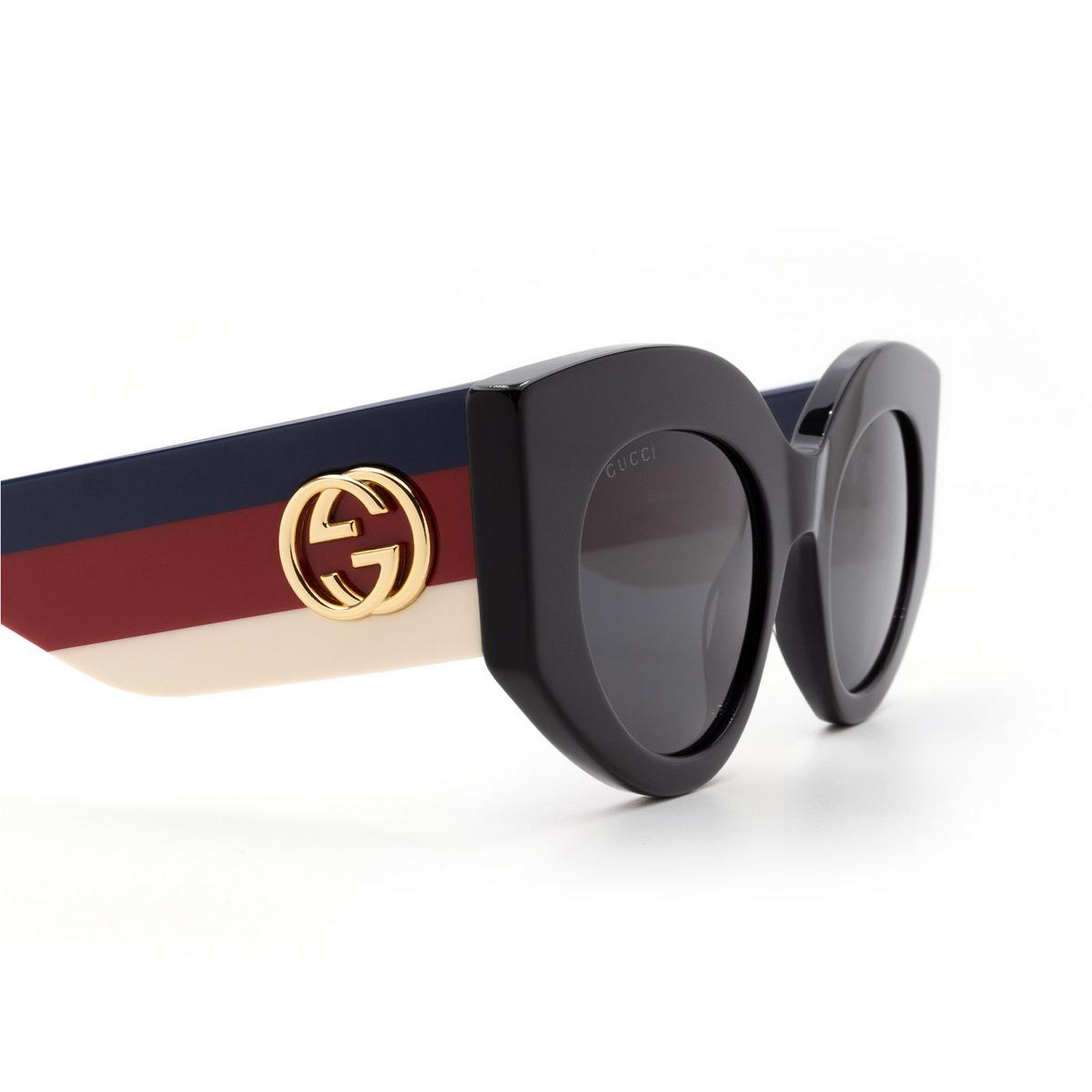 Gucci® Cat-eye Sunglasses: GG0275S color Black 001 - 3/3.