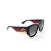 Gucci® Square Sunglasses: GG0276S color Black 001 - product thumbnail 2/3.