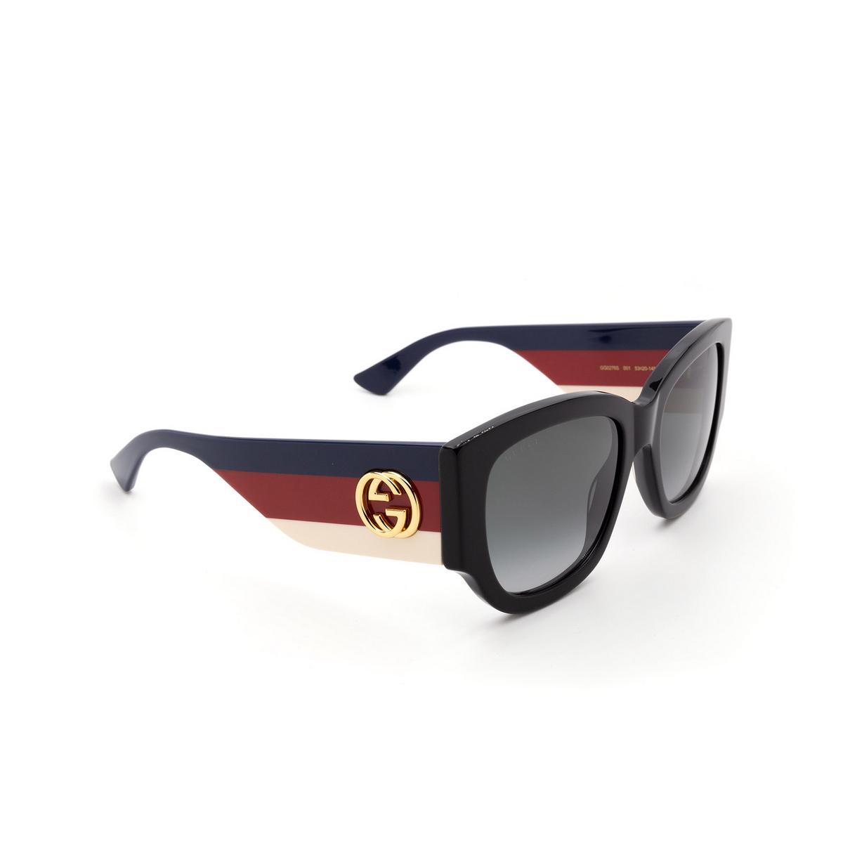 Gucci® Square Sunglasses: GG0276S color Black 001 - 2/3.