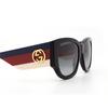 Gucci® Square Sunglasses: GG0276S color Black 001 - product thumbnail 3/3.