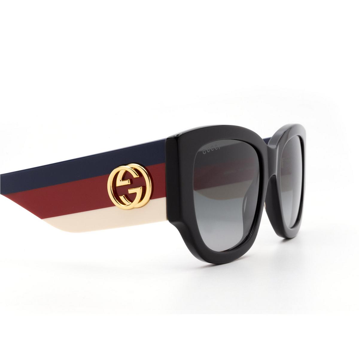 Gucci® Square Sunglasses: GG0276S color Black 001 - 3/3.