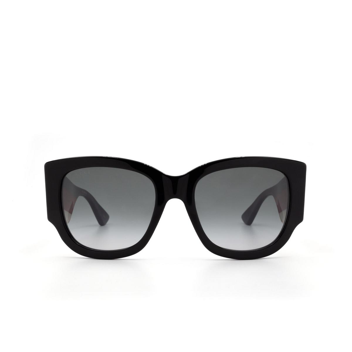 Gucci® Square Sunglasses: GG0276S color Black 001 - 1/3.
