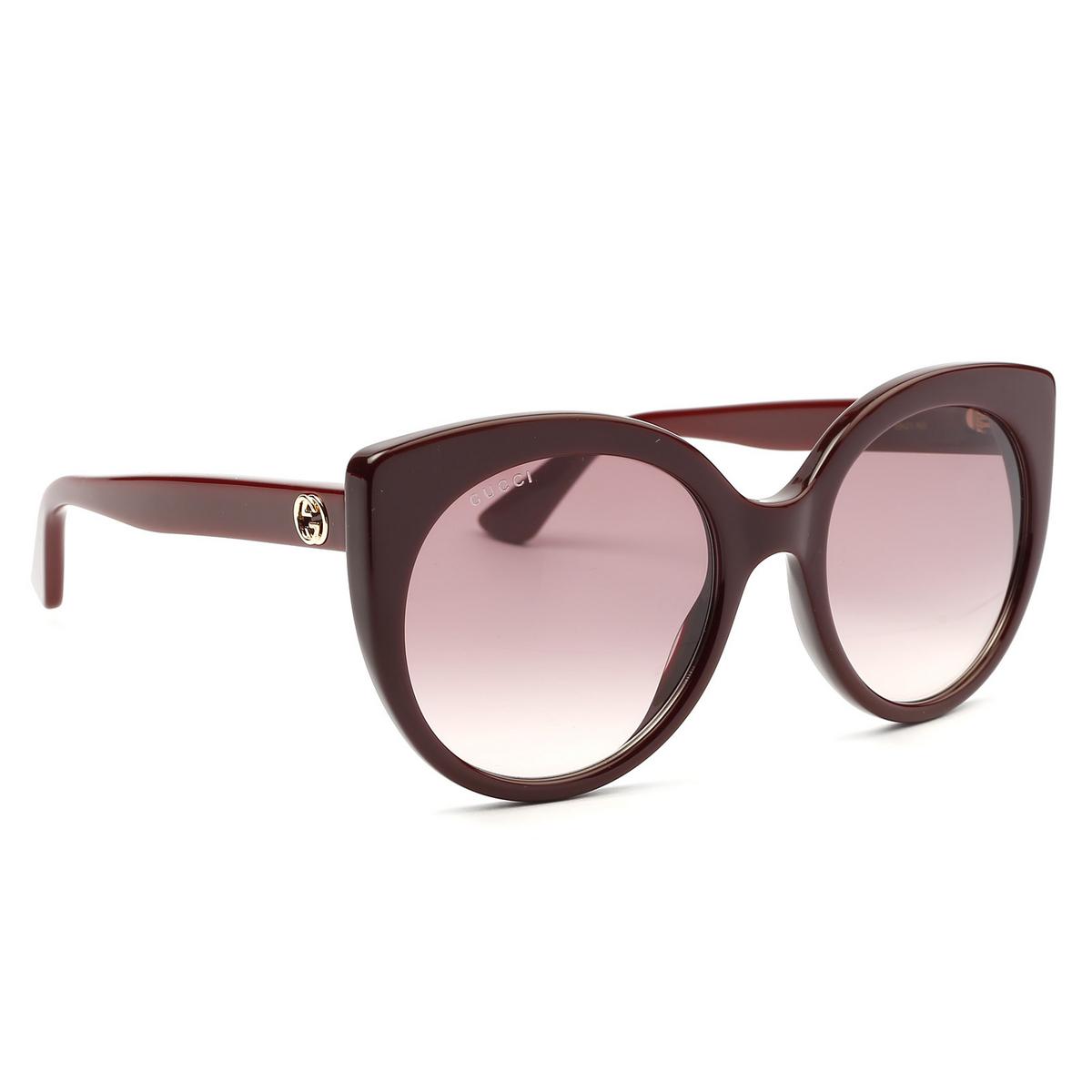 Gucci® Cat-eye Sunglasses: GG0325S color Burgundy 007 - 2/4.
