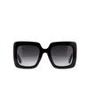 Gucci® Square Sunglasses: GG0328S color Black 001 - product thumbnail 1/3.