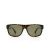 Gucci® Square Sunglasses: GG0341S color Havana 003 - product thumbnail 1/3.