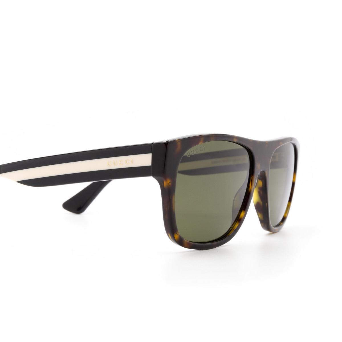 Gucci® Square Sunglasses: GG0341S color Havana 003 - 3/3.