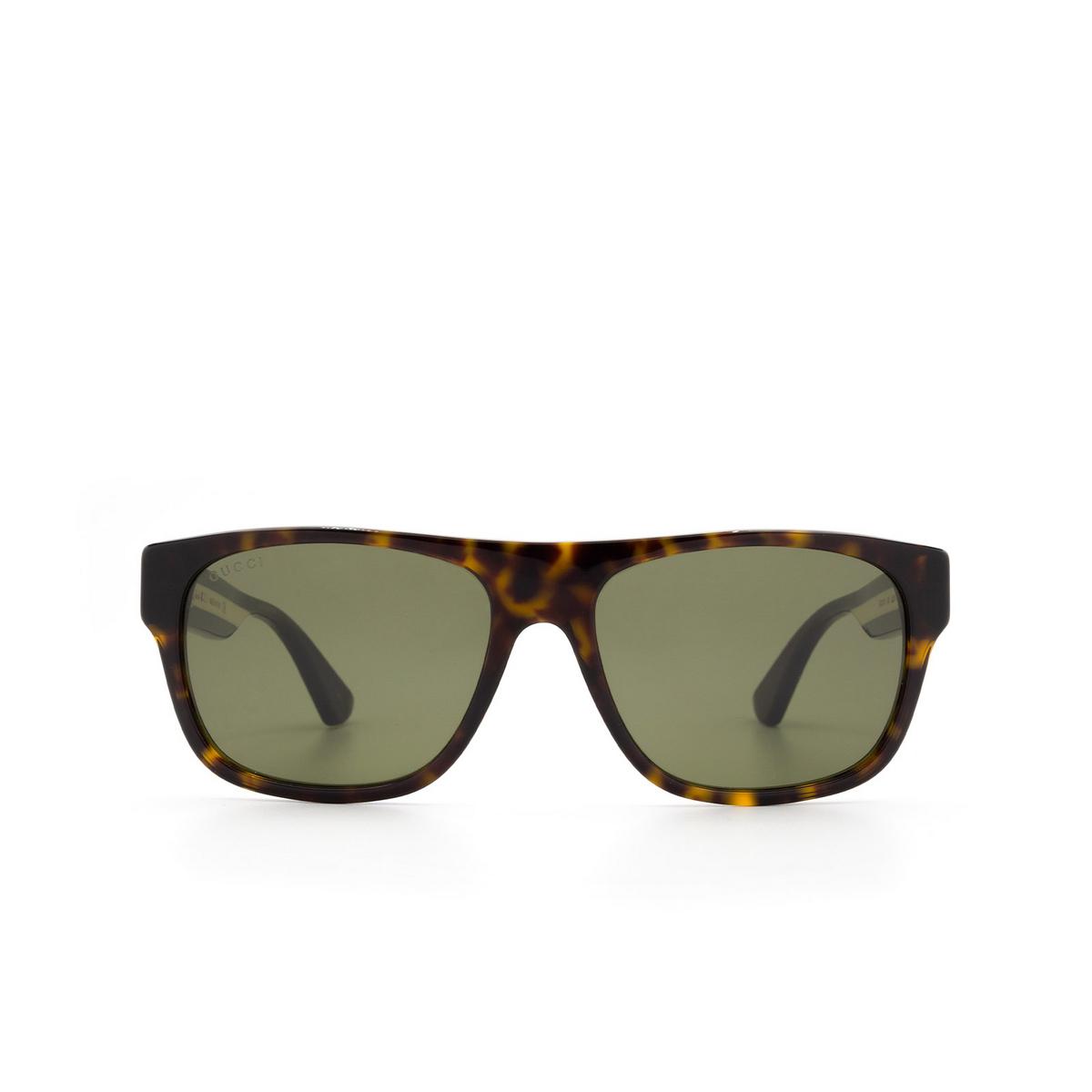 Gucci® Square Sunglasses: GG0341S color Havana 003 - 1/3.