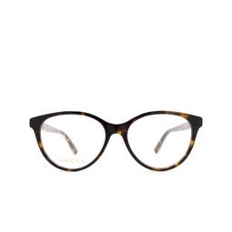 Gucci® Eyeglasses: GG0379O color Havana 002.