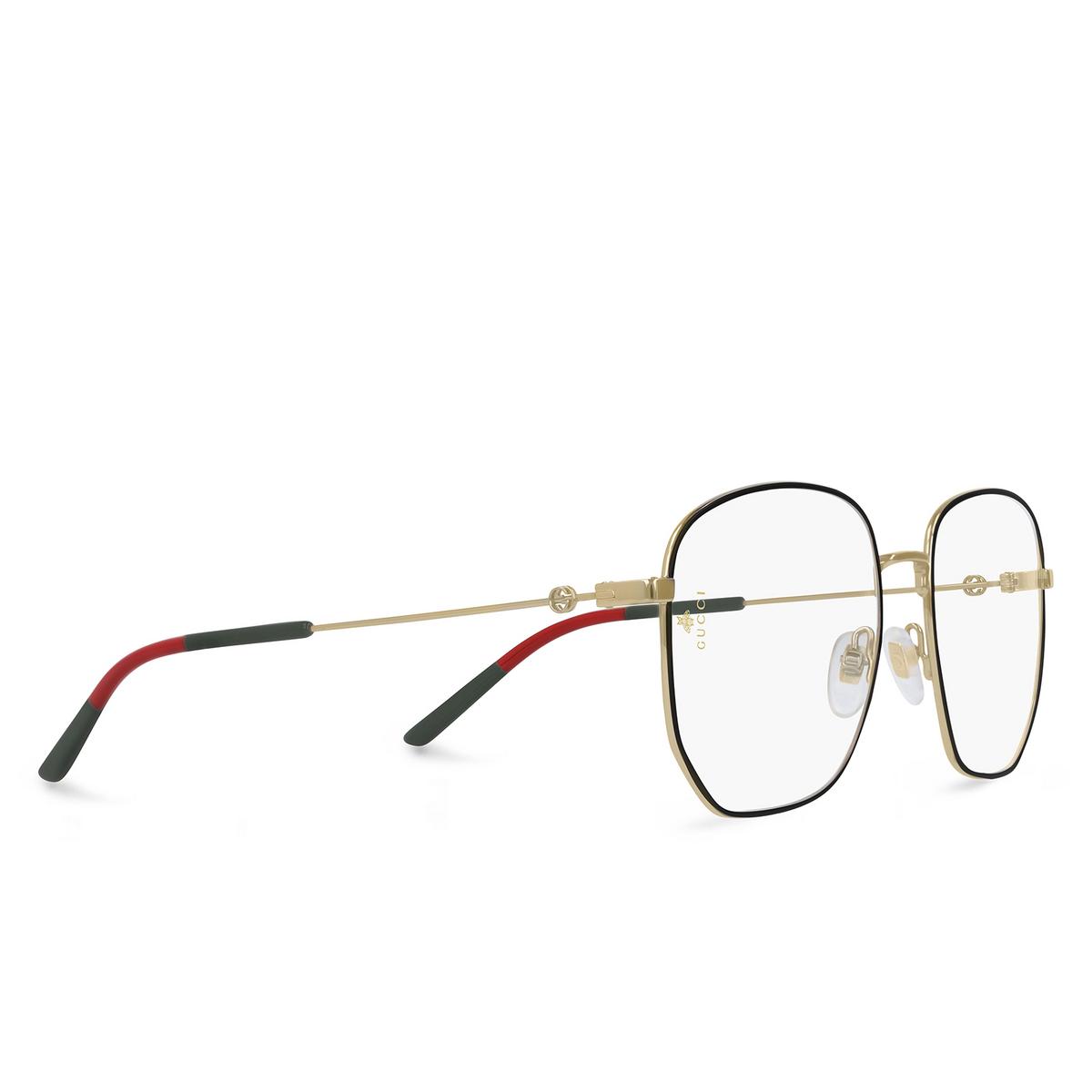 Gucci® Square Eyeglasses: GG0396O color Gold 001.