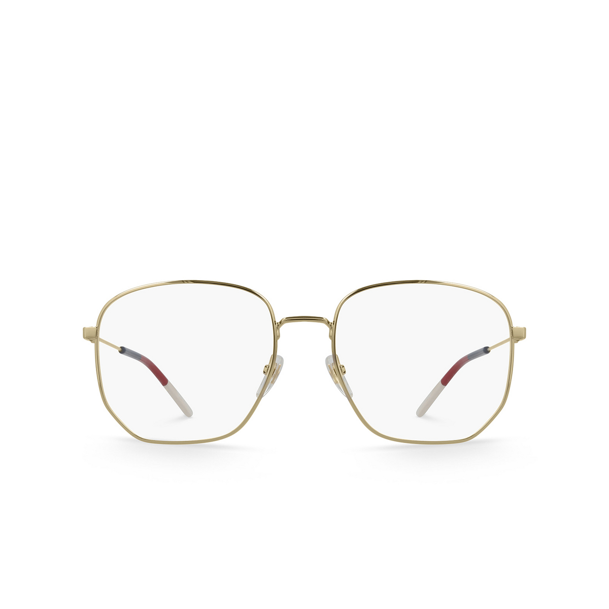 Gucci® Square Eyeglasses: GG0396O color Gold 002.