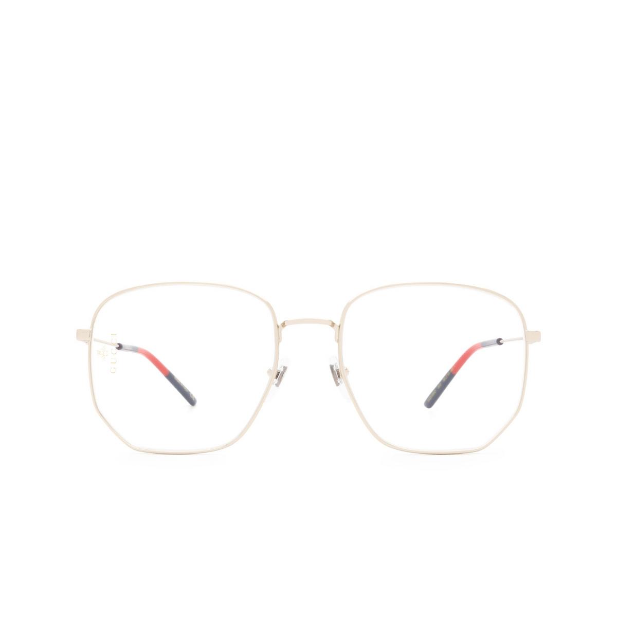 Gucci® Square Eyeglasses: GG0396O color Light Gold 003.