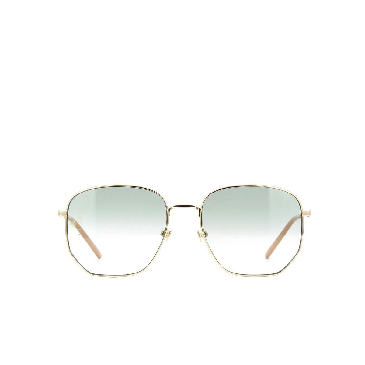 Gucci® Square Sunglasses: GG0396S color Gold 002.
