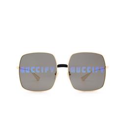 Gucci® Sunglasses: GG0414S color Gold 002.