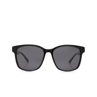 Gucci® Square Sunglasses: GG0417SK color Black 001.