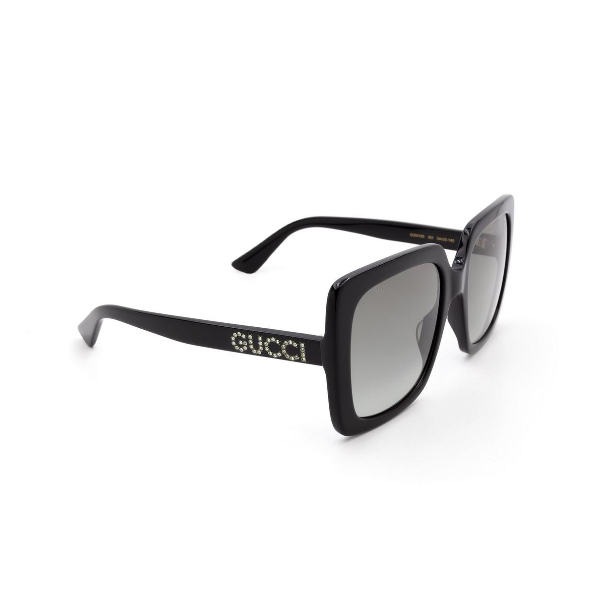 Gucci® Square Sunglasses: GG0418S color Black 001 - 2/3.