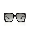 Gucci® Square Sunglasses: GG0418S color Black 001 - product thumbnail 1/3.