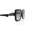 Gucci® Square Sunglasses: GG0418S color Black 001 - product thumbnail 3/3.