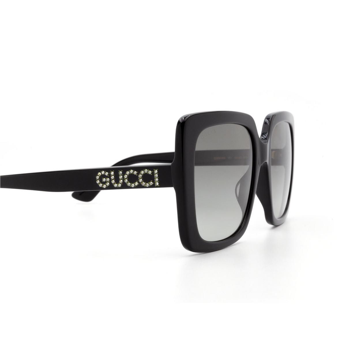 Gucci® Square Sunglasses: GG0418S color Black 001 - 3/3.