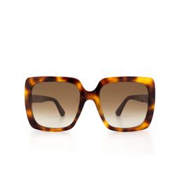 Gucci® Square Sunglasses: GG0418S color Havana 003.