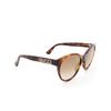 Gucci® Cat-eye Sunglasses: GG0419S color Havana 003 - product thumbnail 2/3.