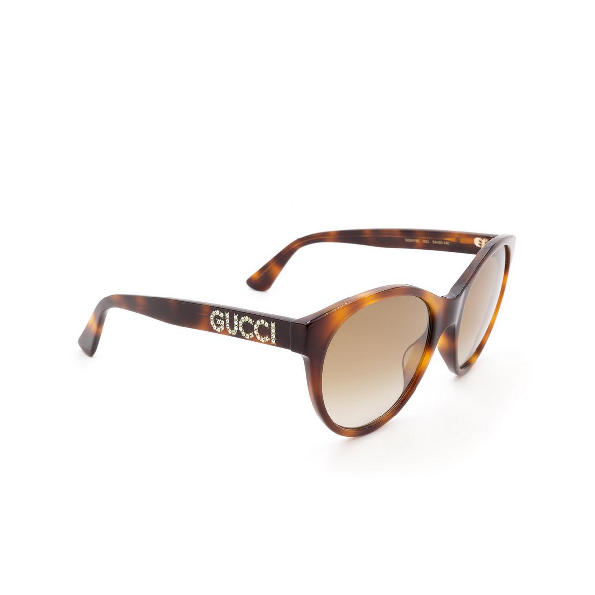 Gucci® Cat-eye Sunglasses: GG0419S color Havana 003 - 2/3.