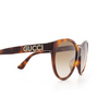 Gucci® Cat-eye Sunglasses: GG0419S color Havana 003 - product thumbnail 3/3.
