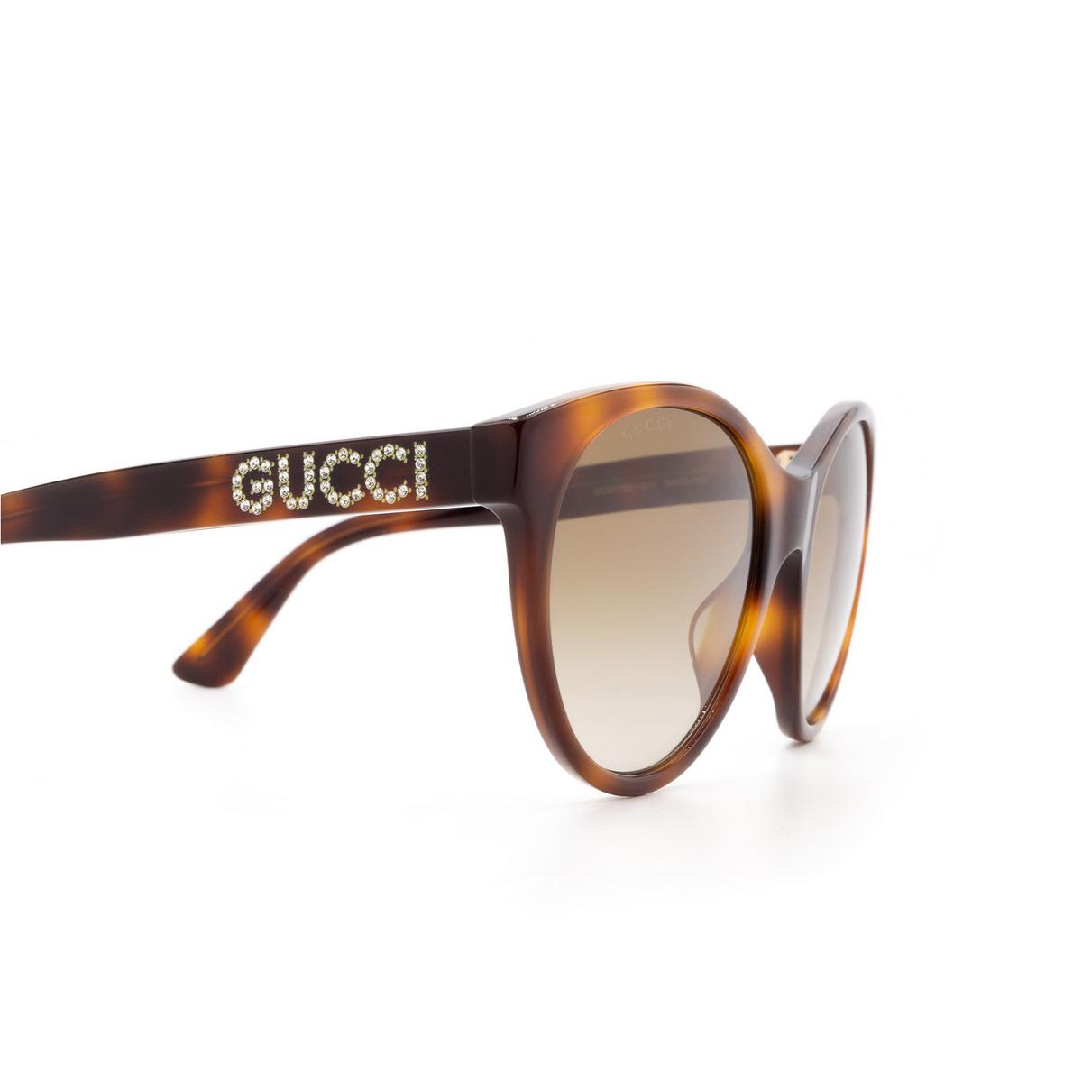 Gucci® Cat-eye Sunglasses: GG0419S color Havana 003 - 3/3.