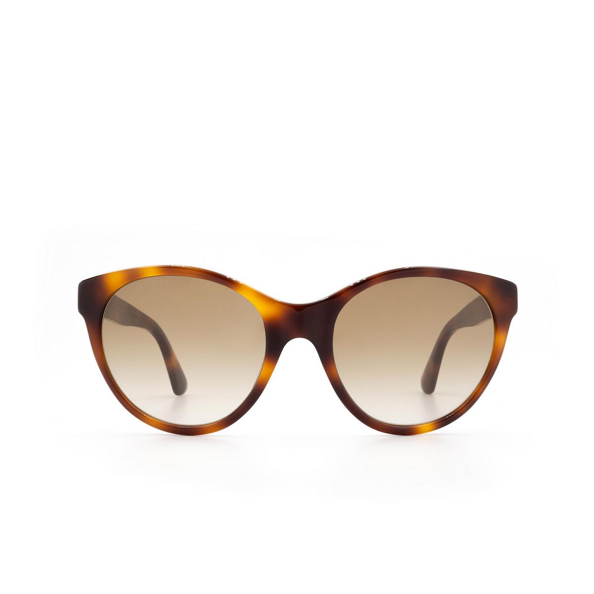 Gucci® Cat-eye Sunglasses: GG0419S color Havana 003 - 1/3.