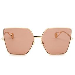 Gucci® Sunglasses: GG0436S color Gold 001.