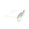 Gucci® Aviator Sunglasses: GG0440S color Gold 004 - product thumbnail 2/3.