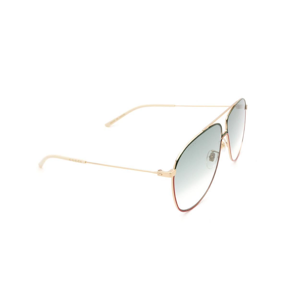 Gucci® Aviator Sunglasses: GG0440S color Gold 004 - 2/3.