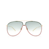 Gucci® Aviator Sunglasses: GG0440S color Gold 004 - product thumbnail 1/3.