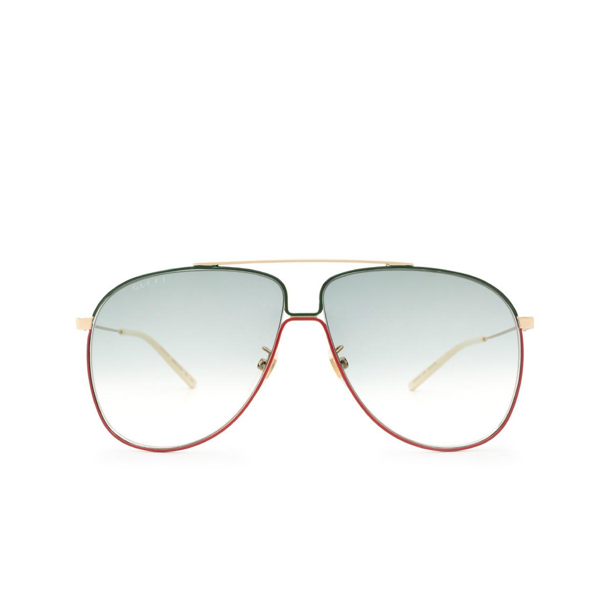 Gucci® Aviator Sunglasses: GG0440S color Gold 004 - 1/3.