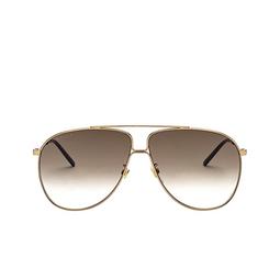 Gucci® Aviator Sunglasses: GG0440S color Gold 007.
