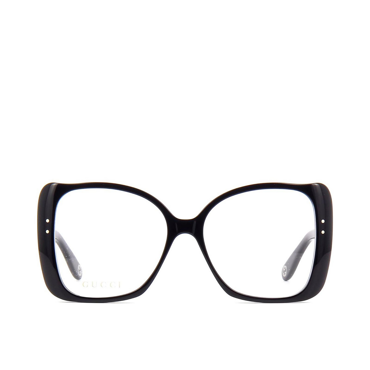 Gucci® Butterfly Eyeglasses: GG0473O color Black 001 - front view.