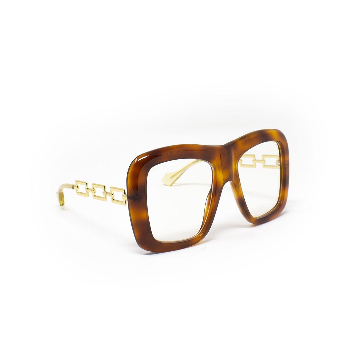 Gucci® Irregular Sunglasses: GG0499S color Havana 003 - 2/3.