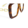 Gucci® Irregular Sunglasses: GG0499S color Havana 003 - product thumbnail 3/3.