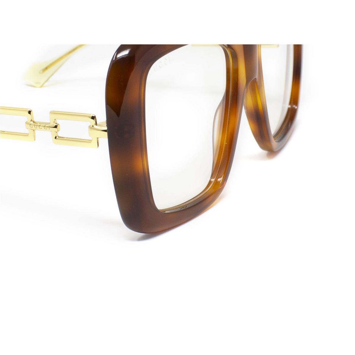 Gucci® Irregular Sunglasses: GG0499S color Havana 003 - 3/3.