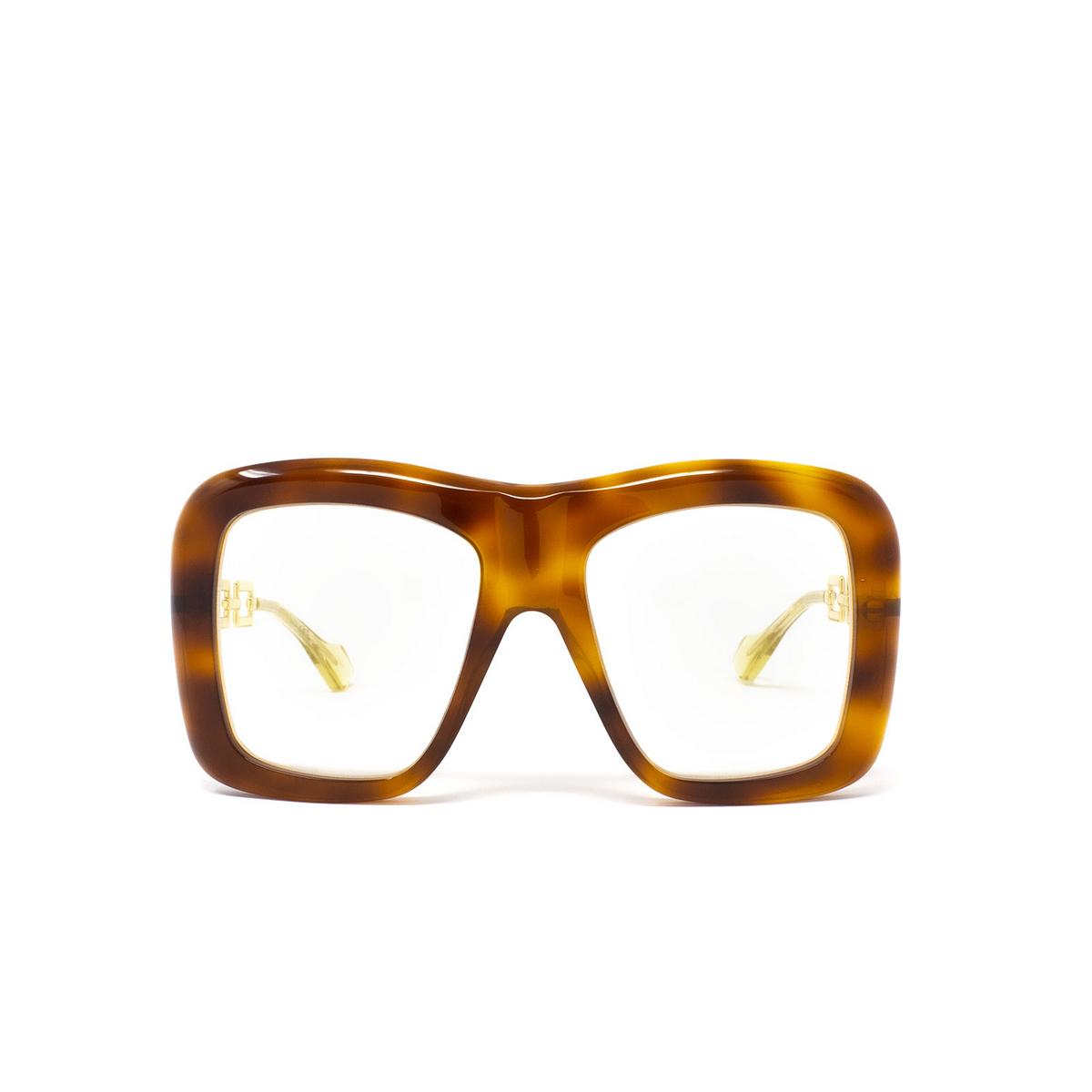 Gucci® Irregular Sunglasses: GG0499S color Havana 003 - 1/3.