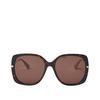 Gucci® Square Sunglasses: GG0511S color Dark Havana 003 - product thumbnail 1/2.