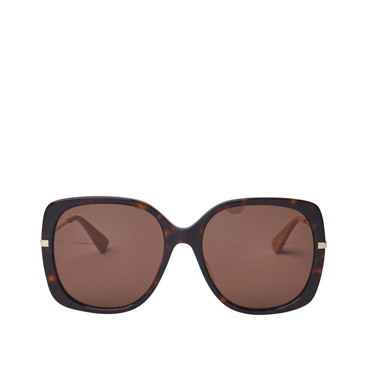 Gucci® Square Sunglasses: GG0511S color Dark Havana 003 - 1/2.