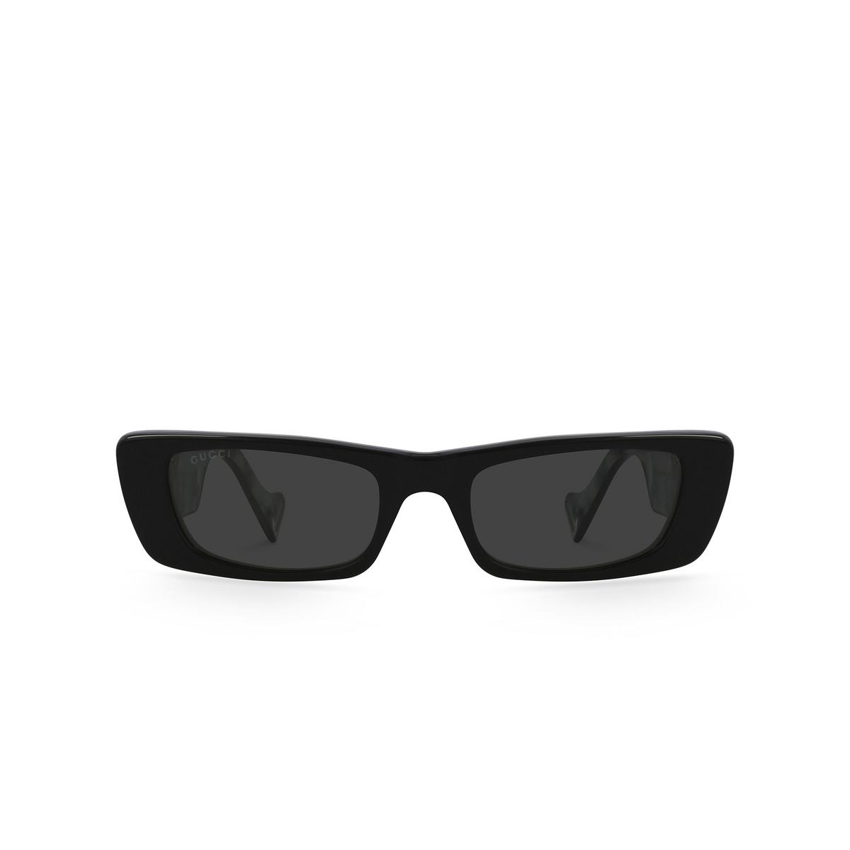 Gucci® Rectangle Sunglasses: GG0516S color Black 001.